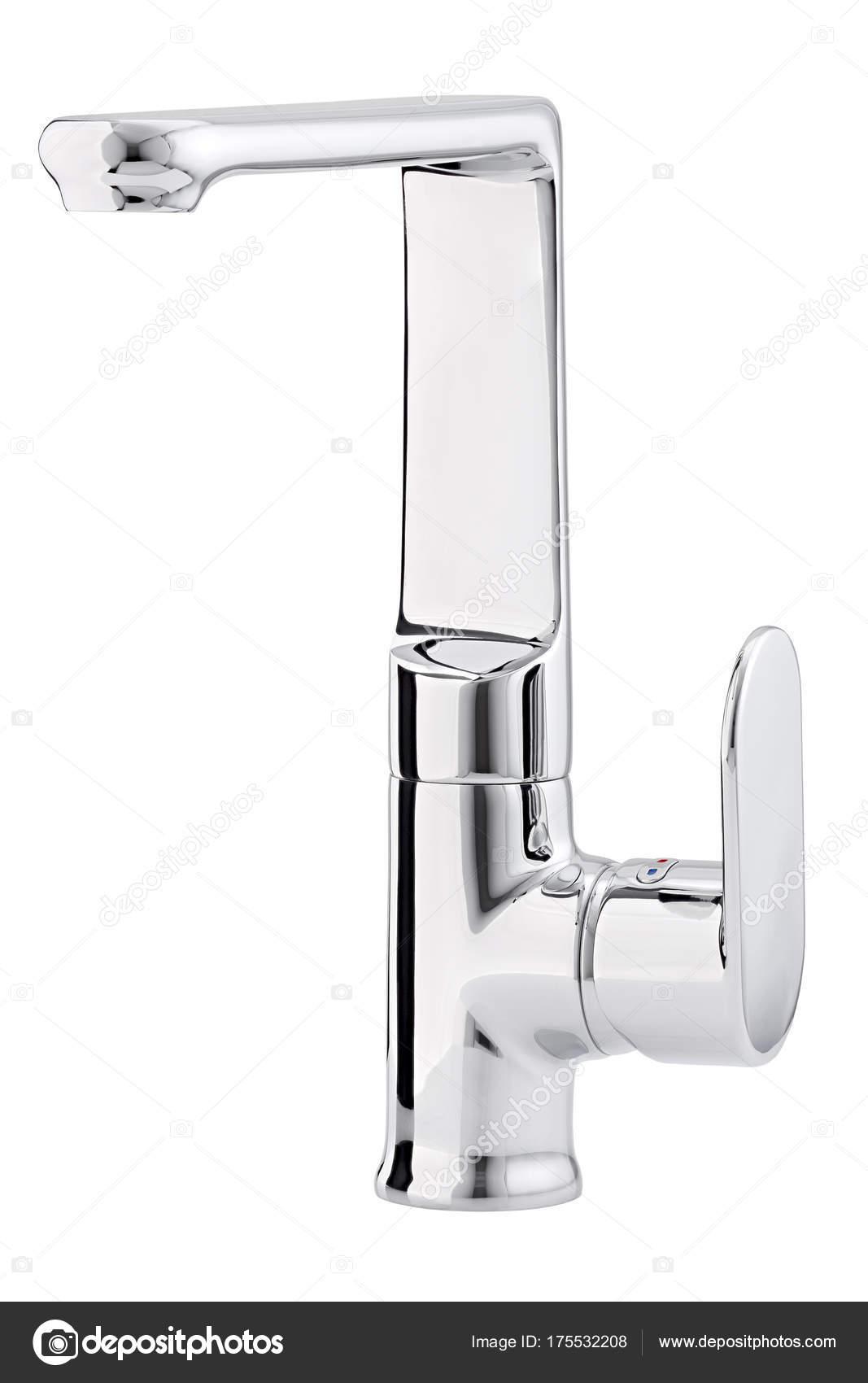 Mezclador de agua caliente frío. Moderno grifo de baño. Grifo de ...