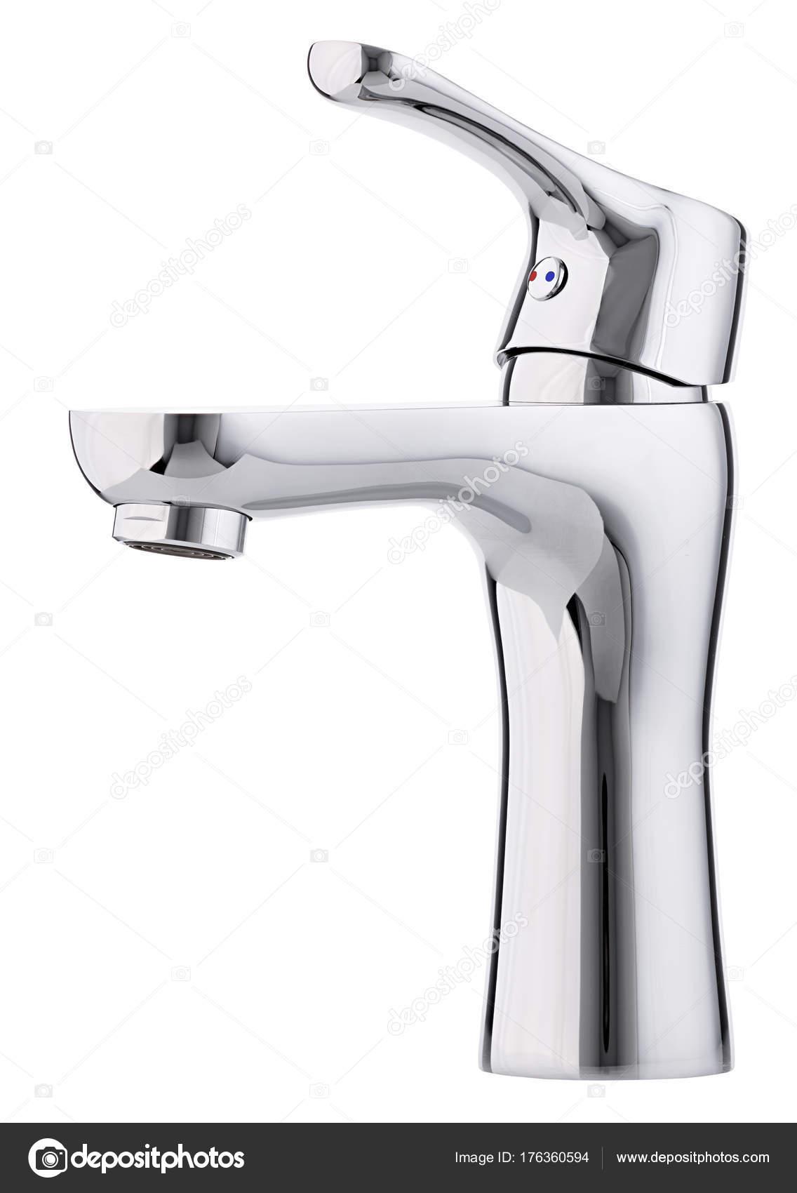 Miscelatore acqua calda fredda. Rubinetto moderno del bagno ...