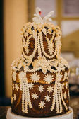 Ukrainian wedding bread. Traditional wedding symbol