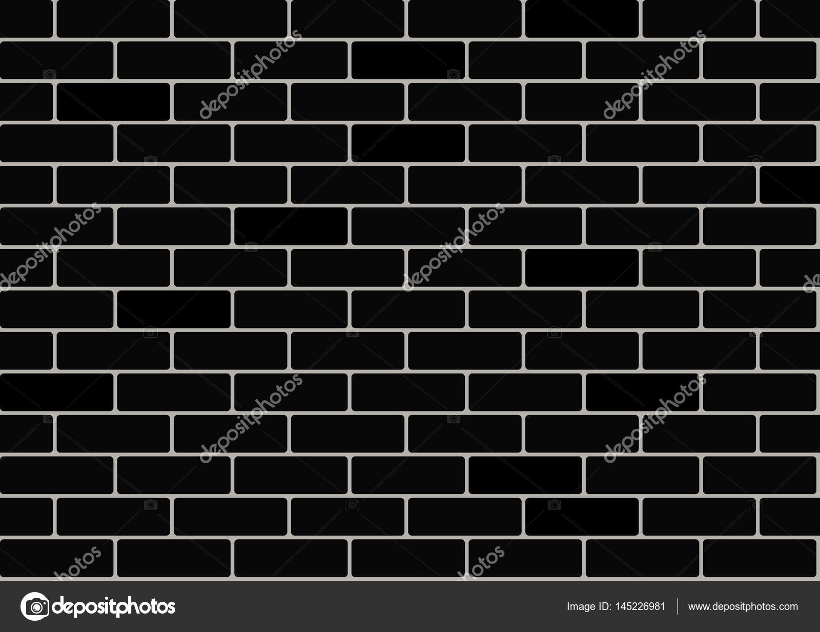 Black Brick Wallpaper Stock Vector C Choostudio 145226981