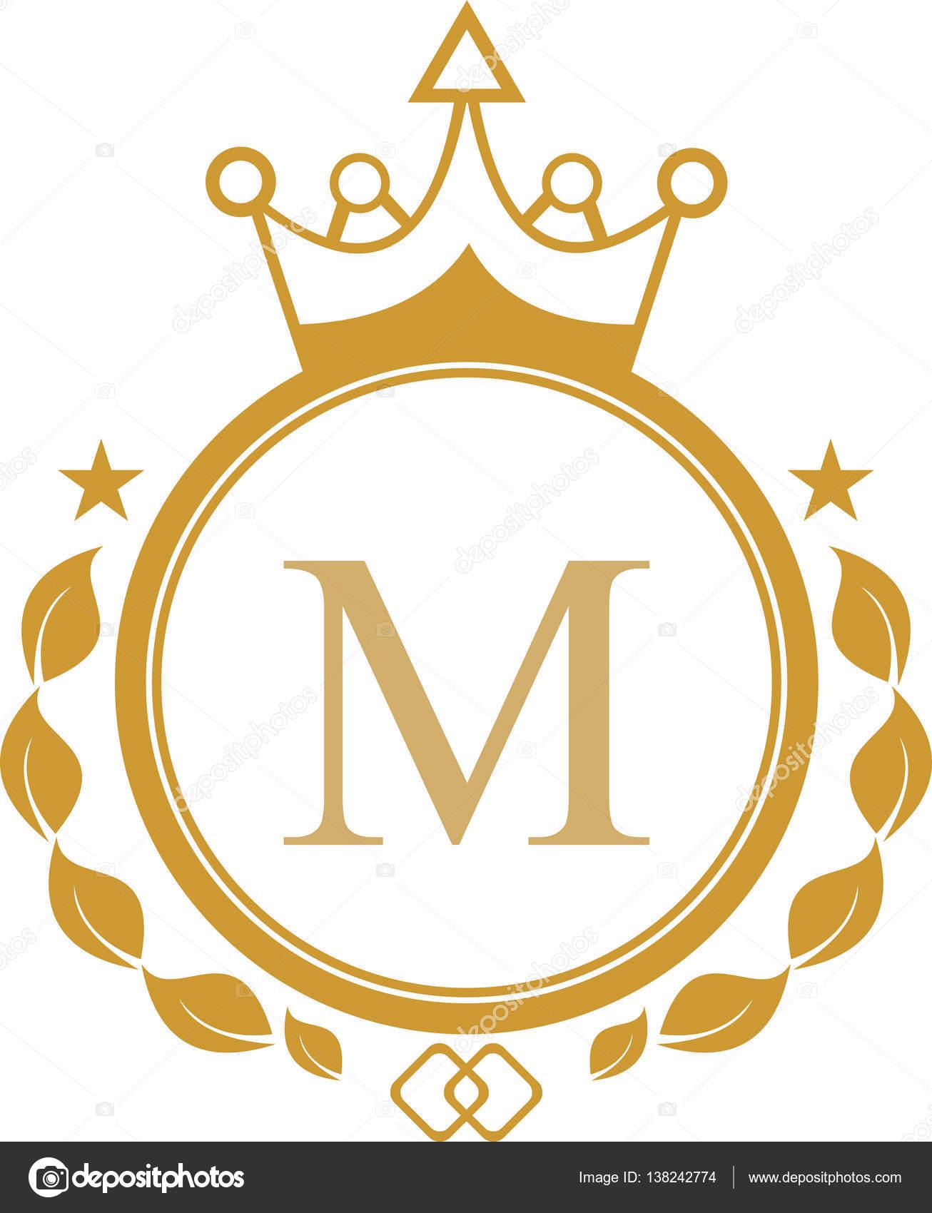 King Letter M Logo Stock Vector