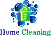 embléma, otthoni, tisztítási buborék