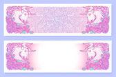 Photo Astrological Taurus horizontal banners.