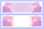 Photo Astrological Aries horizontal banners.