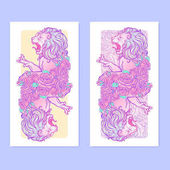 Photo Astrological Leo vertical banners.