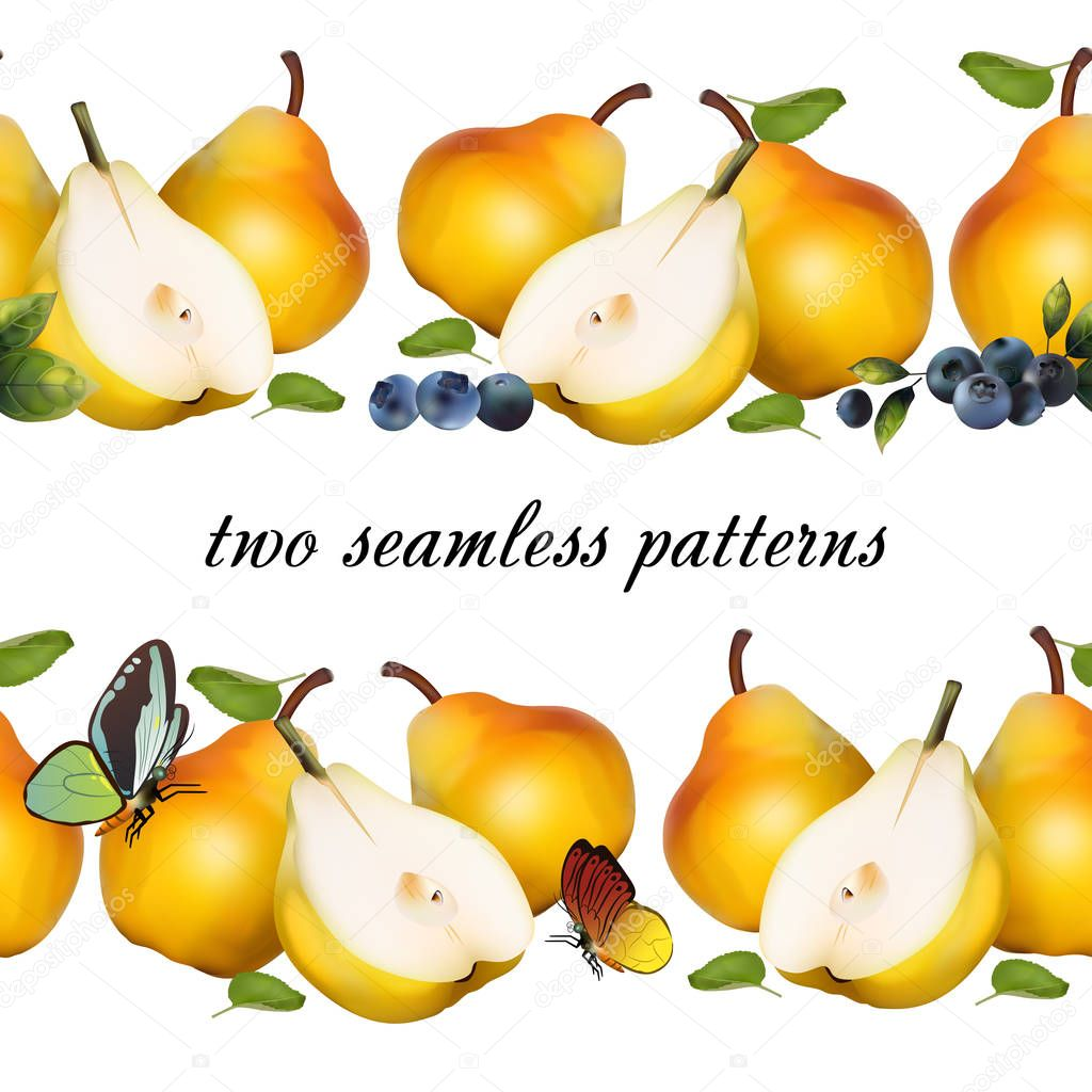 Seamless pattern from fruits.