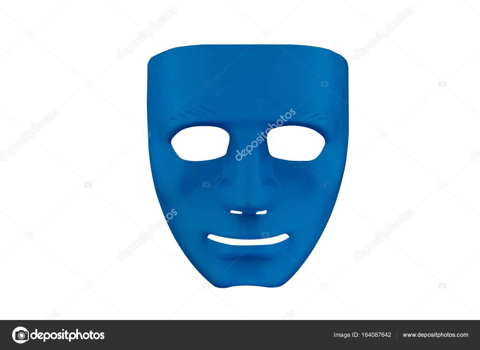 Masque De Sourire Bleu Photographie Winyoophoto 164087642