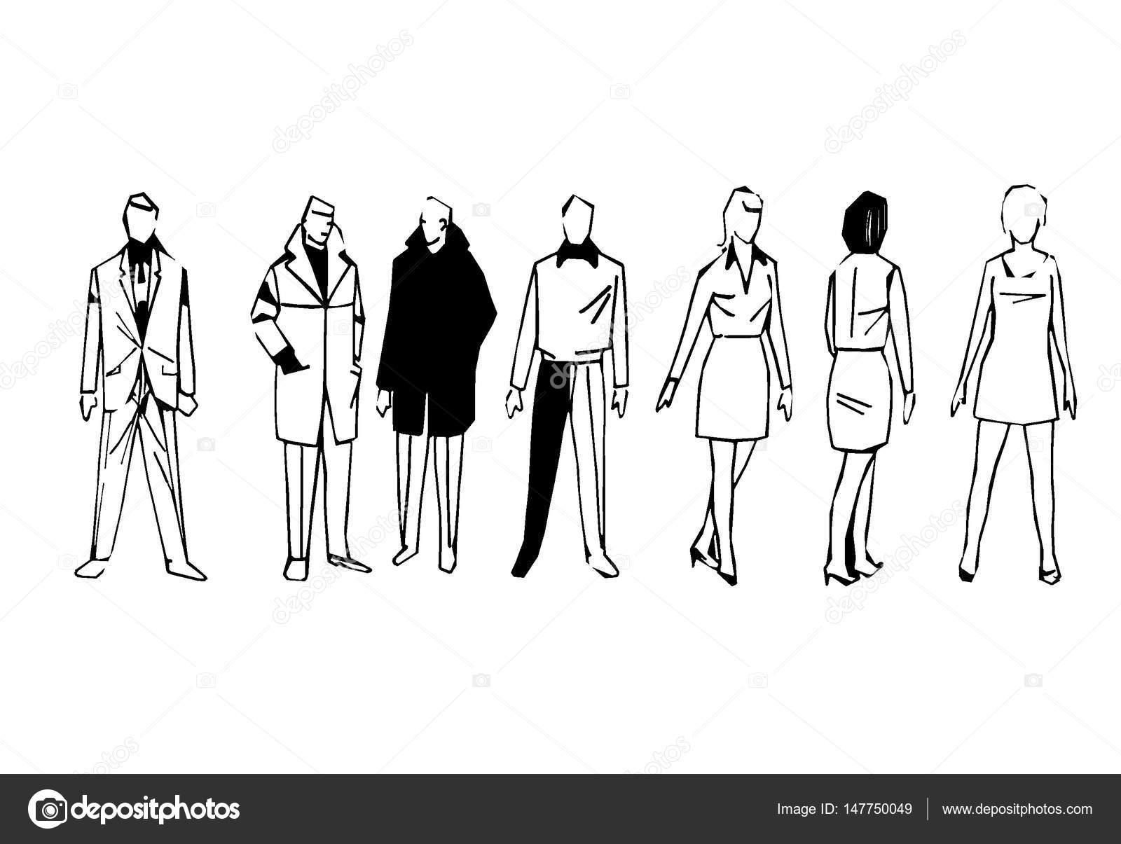 spesso figure stilizzate di uomini e donne — Foto Stock © wwaawwaa #147750049 KO96