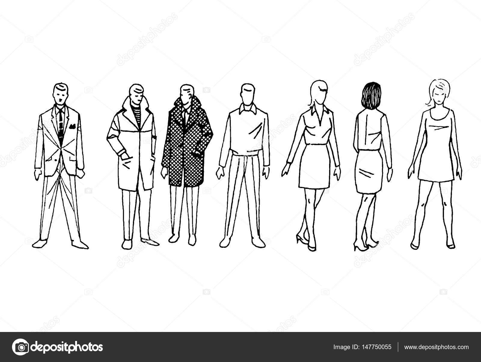 spesso figure stilizzate di uomini e donne — Foto Stock © wwaawwaa #147750049 AW02