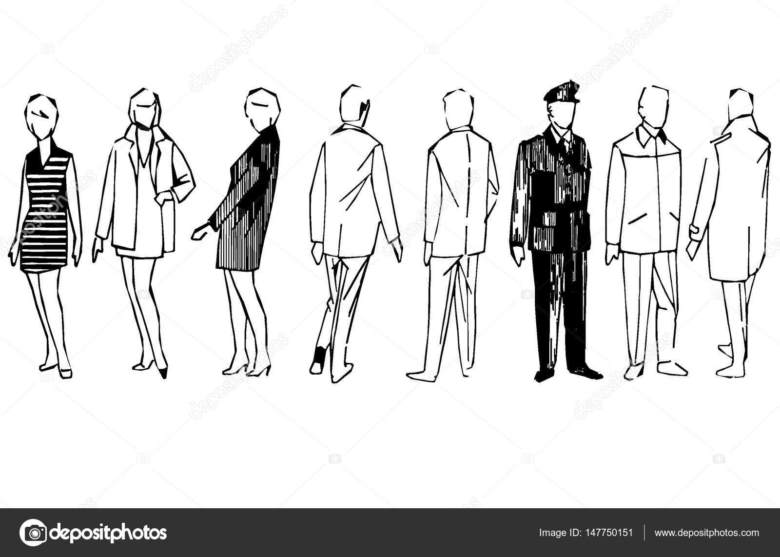 Ben noto figure stilizzate di uomini e donne — Foto Stock © wwaawwaa #147750151 BG21