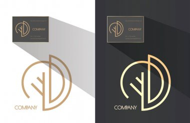 D letter company brand identity