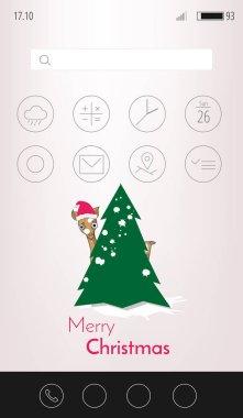 Christmas mobile interface wallpaper.