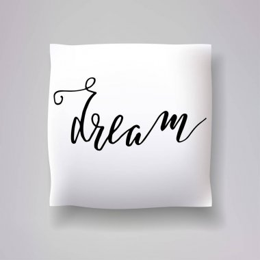 pillows with dream text