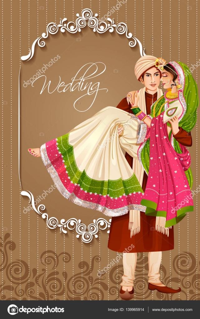 ᐈ Couple Wedding Dress Indian Stock Illustrations Royalty Free Indian Wedding Couple Backgrounds Download On Depositphotos