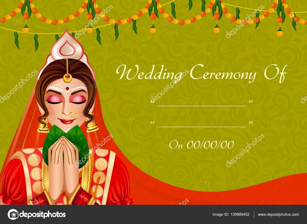 Indische Frau Braut In Der Hochzeitszeremonie Von Indien