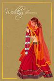 Fotografie Indische Frau Braut in Varmala Trauung von Indien