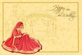 Fotografie Indische Frau Braut in der Hochzeitszeremonie von Indien