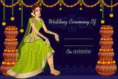 Fotografie Indische Frau Braut Hochzeit Mehandi Zeremonie von Indien