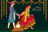 Fotografie Indische Paare in Satphera Trauung von Indien