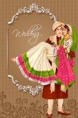 Indisches Paar bei der Trauung in Indien