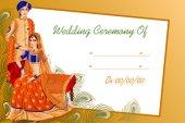 Fotografie Indische Paare in der Hochzeitszeremonie von Indien