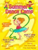 Fotografie Banner Plakatentwurf Vorlage für Kinder Sommerlager Aktivitäten