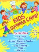 Banner poszter design sablon tevékenységek gyerekek nyári tábor