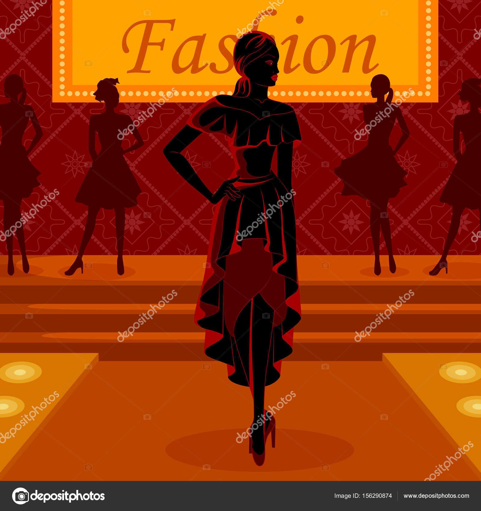 ᐈ ramp walk stock pictures royalty free ramp models backgrounds download on depositphotos https depositphotos com 156290874 stock illustration beautiful african black woman modern html