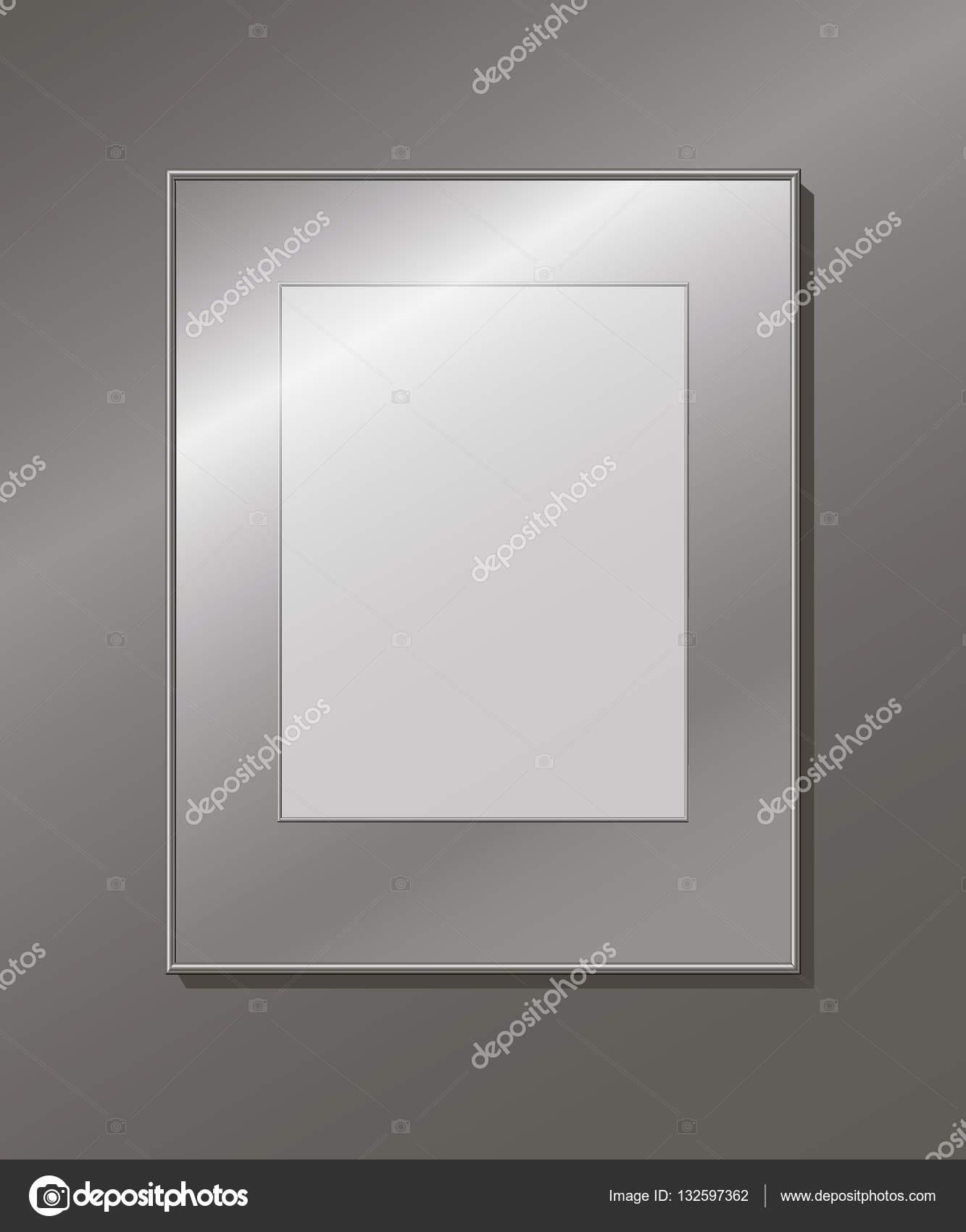 Een lege aluminium frame op de muur — Stockvector © Valart717 #132597362