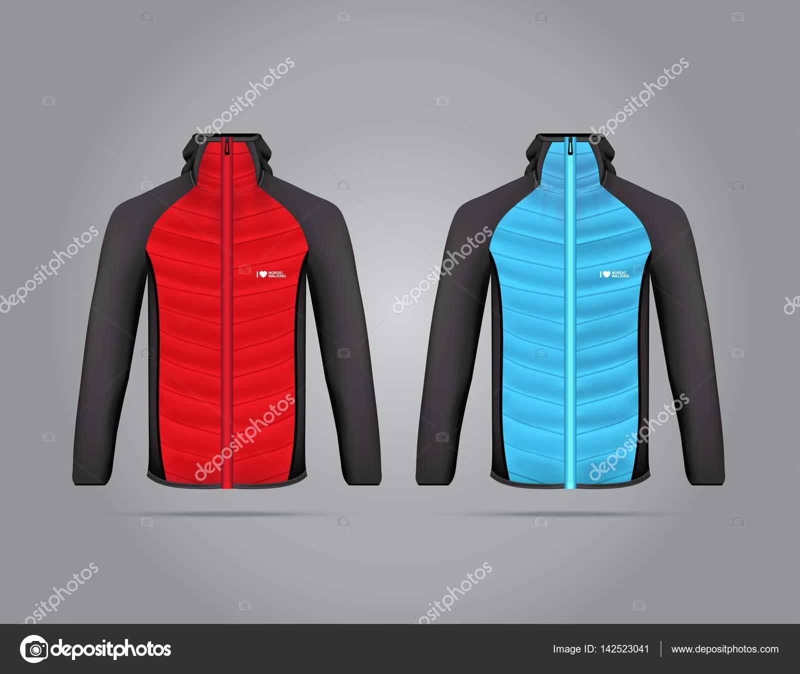 Векторна ілюстрація Куртки зимові види спорту. Реалістичний ілюстрація  костюм для зимових видів спорту — Вектор від messer16 d3876c7136715