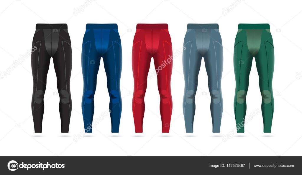 Sportlegging Mannen.Vectorillustratie Van Fitness Leggings Voor Mannen Stockvector