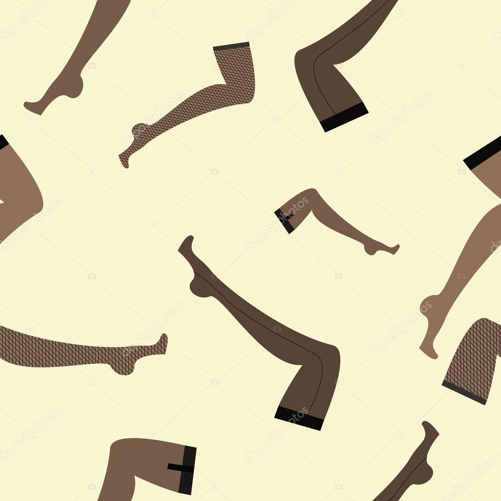 Patrón sin fisuras con la imagen de piernas femeninas en medias ...