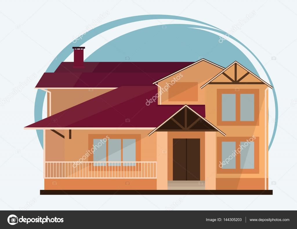 ilustração em vetor de bonito dos desenhos animados coloridas casas