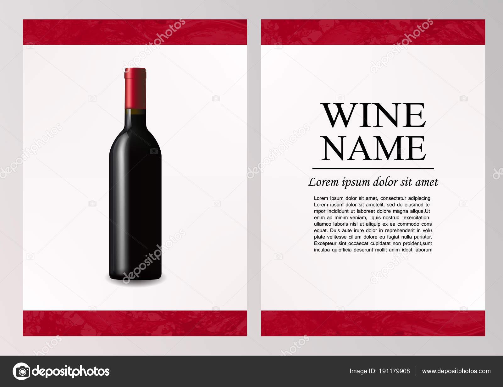 Werbung-Magazin-Seite, Weinpräsentation Broschüre. Abbildung einer ...
