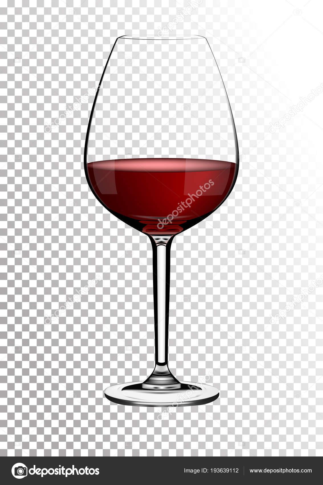 c949ae274 Átlátható, reális vektor borospohár teljes piros bor gazdag sötét ...
