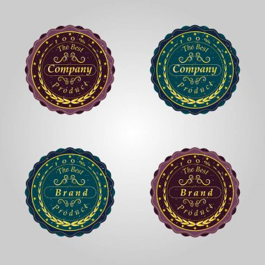 set of retro badges.Company,the best product
