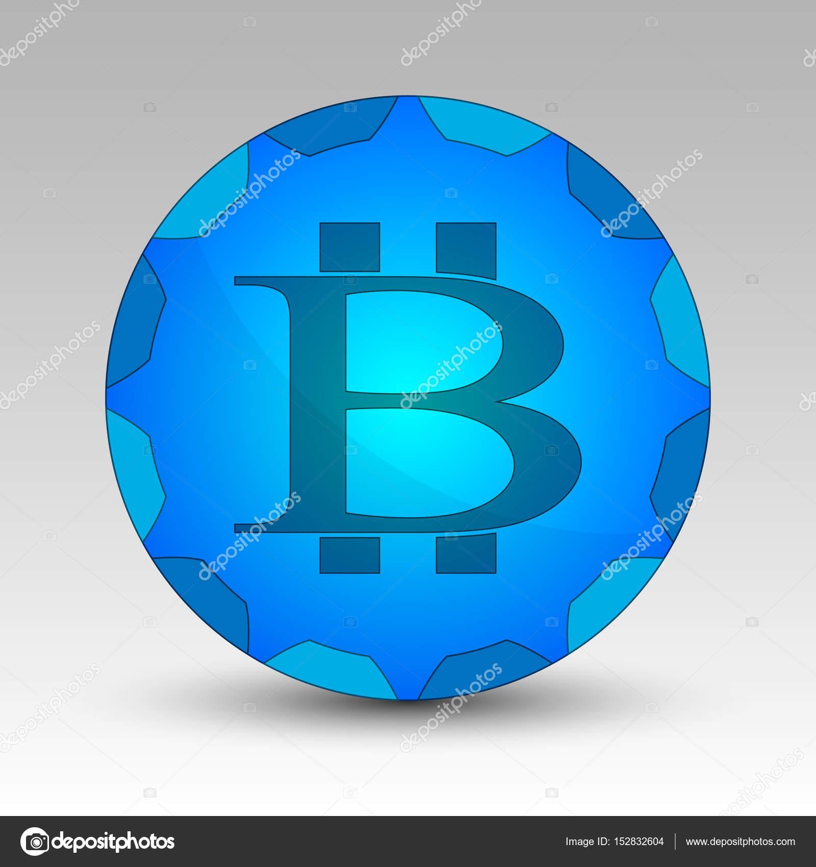 Crculo azul com sinal de bitcoin vetores de stock rzliukail crculo azul com sinal de bitcoin vetores de stock ccuart Choice Image