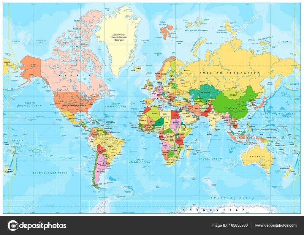 Cartina Mondo Alta Risoluzione.Bathymetry Stok Vektor Ilustrasi Bathymetry Bebas Royalti Depositphotos