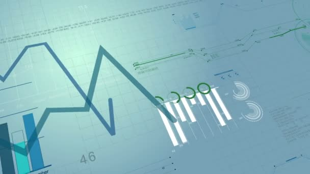 Growing chart financial bar diagram showing increasing profits beautiful 3d animation of stock market charts growing financial figures and diagrams growing on digital ccuart Images