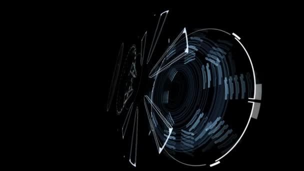 Gyönyörű absztrakt 3d Blueprint. Számok és kód futtatása. Head-up Display számítógépes adatok. High Tech koncepció elemet. Full Hd 1920 x 1080.