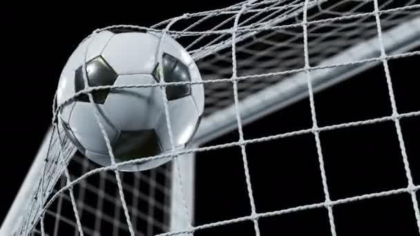 Bola de futebol a voar para o gol net em cmera lenta futebol bola de futebol a voar para o gol net em cmera lenta futebol bonito animao stopboris Choice Image