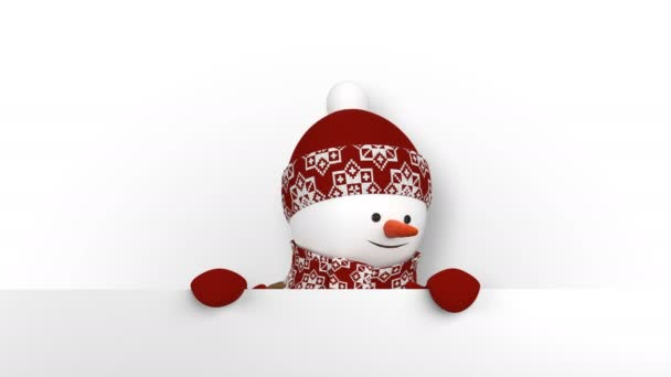 Funny snowman in red hat greeting with hands and smiling beautiful funny snowman in red hat greeting with hands and smiling beautiful 3d cartoon animation with m4hsunfo
