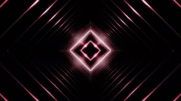Schöne Zusammenfassung Square Tunnel mit Licht Linien bewegen schnell. Satz von mehreren Video-Elementen. Hintergrund futuristische Tunnel mit Neonröhren. 3d Animation geloopt. 4 k Ultra Hd 3840 x 2160