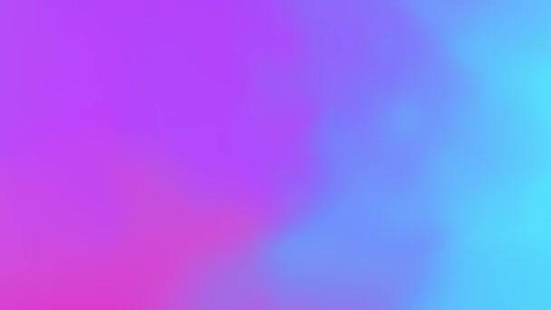 Gyönyörű elvont holografikus gradiens szivárvány áramló animáció zökkenőmentes kék és lila. Looped Fluid Gradient Trendy Élénk Neon Színek Mozgó grafika Modern háttér. 4k Ultra HD 3840x2160.