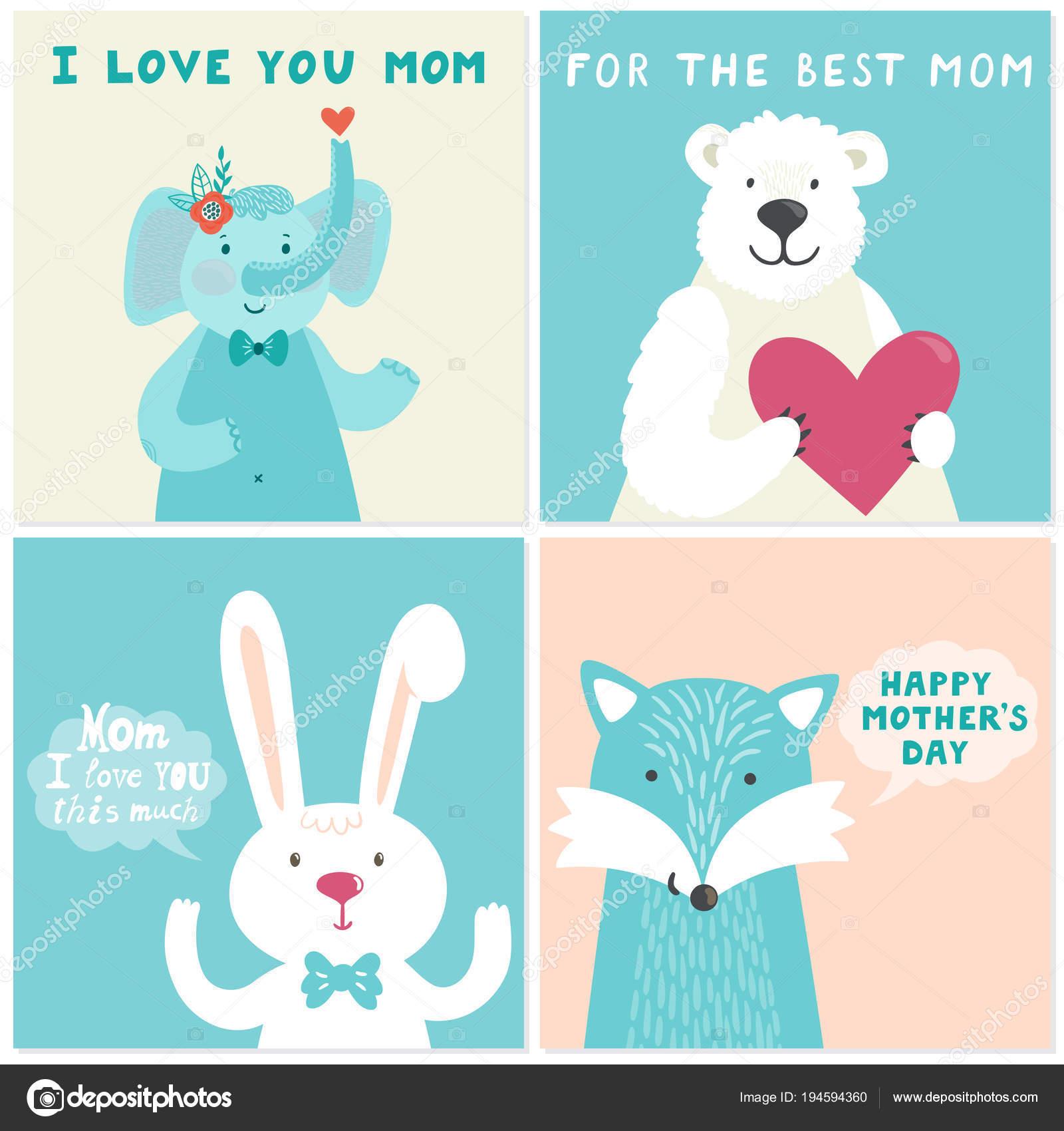 Weihnachtskarten Comic.Vektor Satz Von Vier Abbildungen Mit Niedlichen Lächelnde Comic