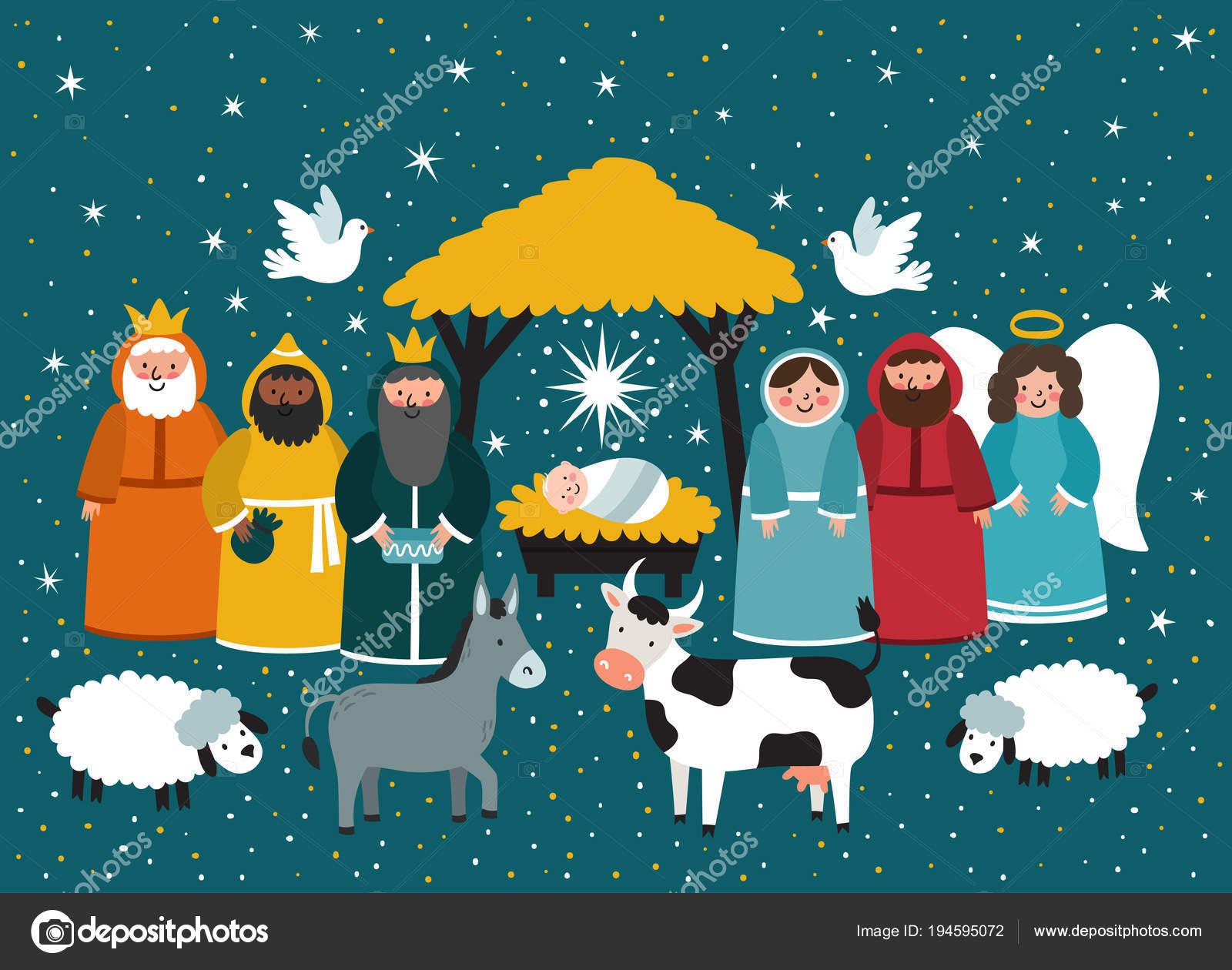 Fotos De Navidad Del Nino Jesus.Imagenes Nino Jesus Nacido Escena De Navidad Tradicional