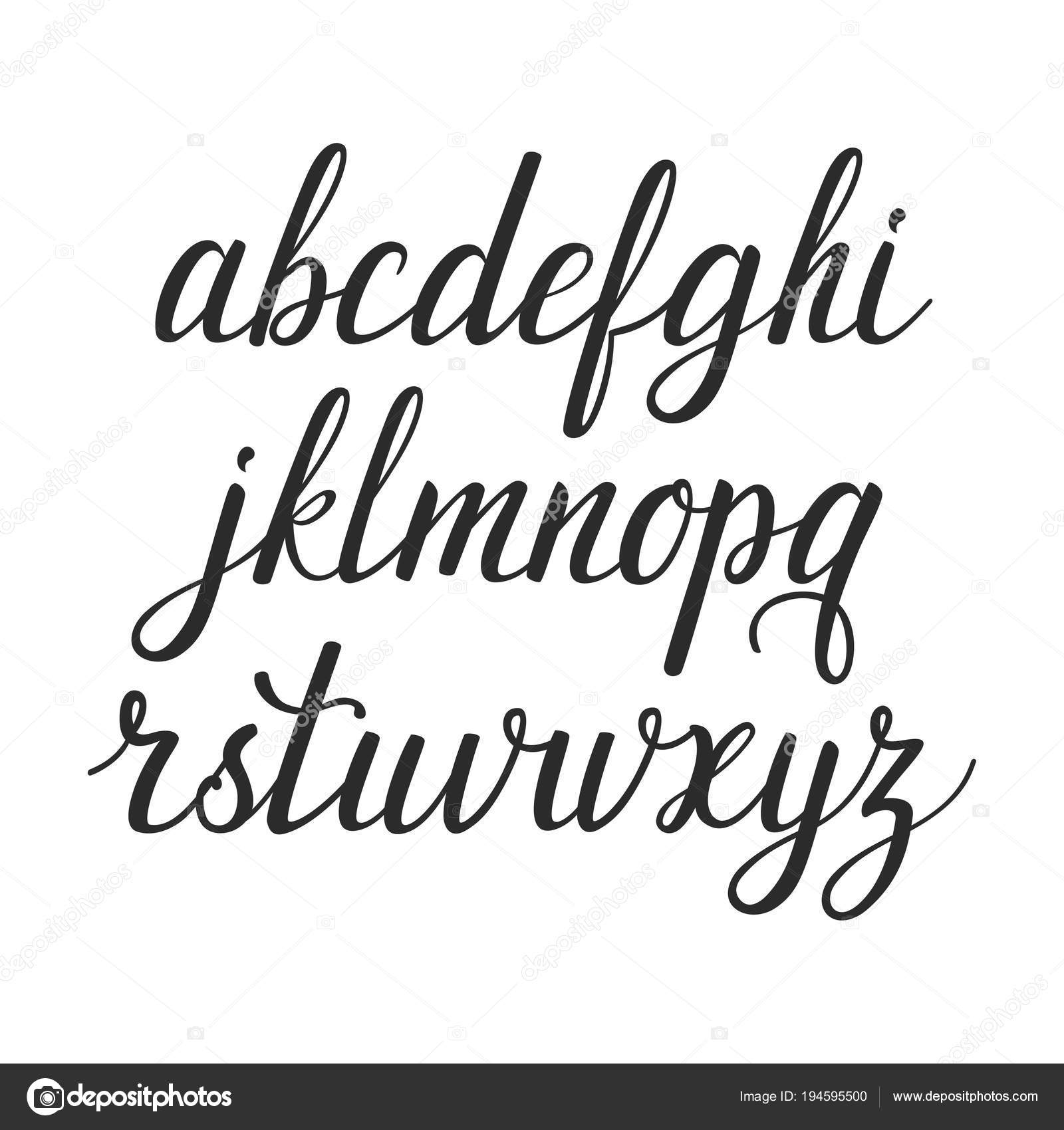 Vector calligraphic alphabet  Set of beautiful hand written