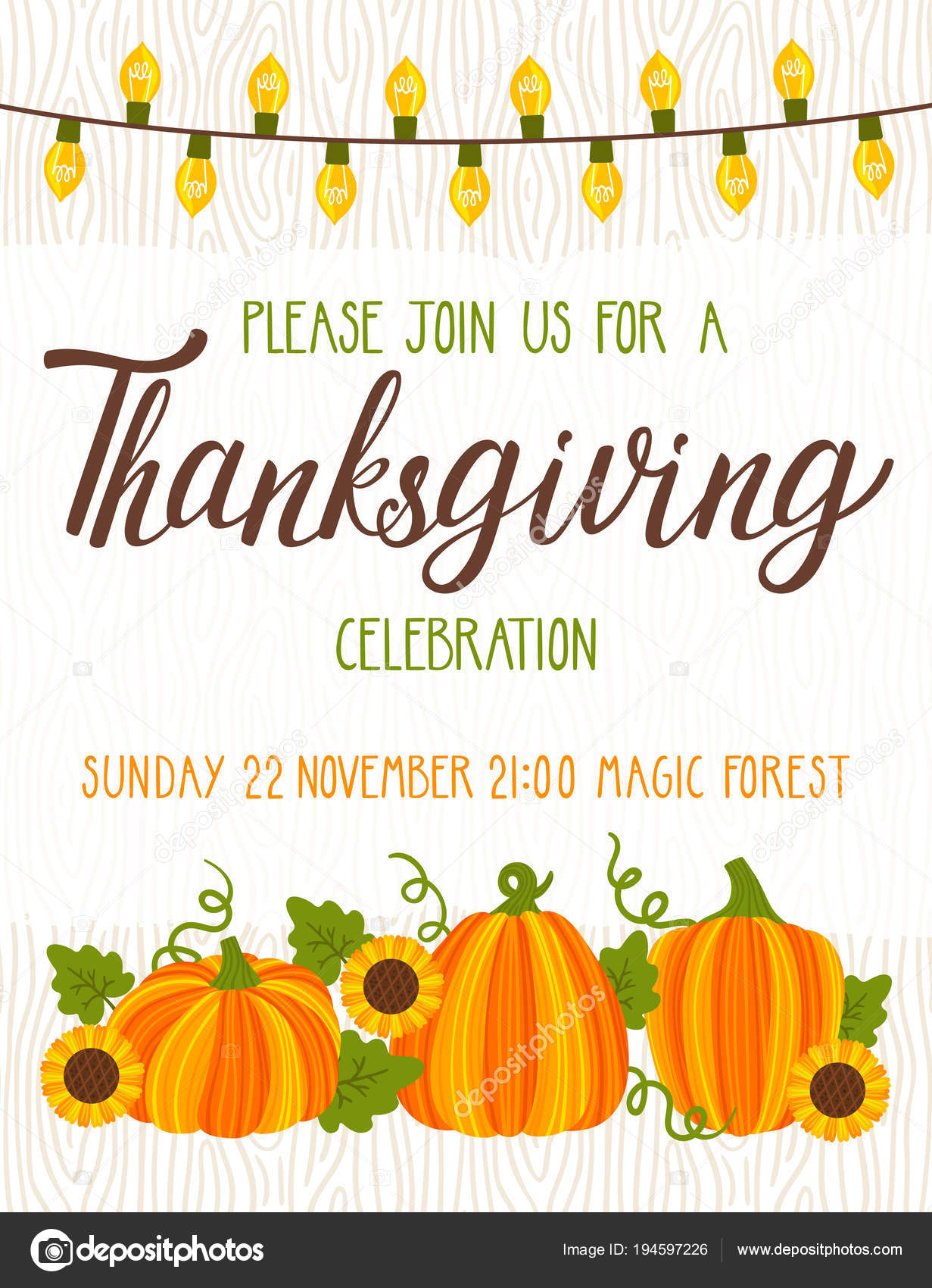 Background Thanksgiving Invitation
