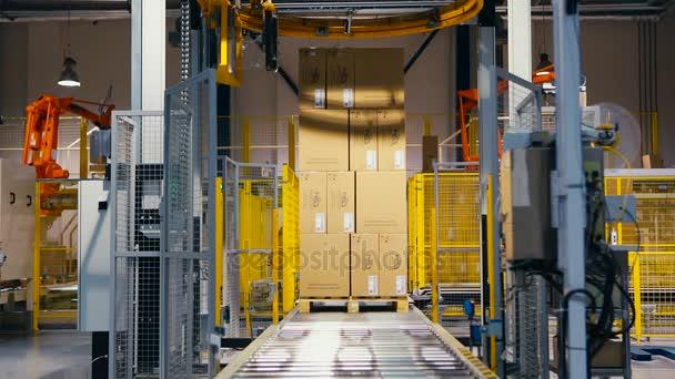 palettázó robot pakolások szakaszon
