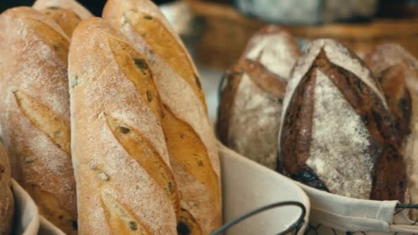 fresh organic bread baked with healthy nuts and sesame seeds
